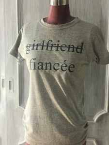 And now Fiancée T-shirt light gray