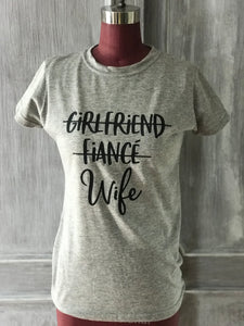 And now wife T-shirt light gray