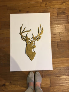 Pressed Gang Stag Canvas Gold and Black - Pressed Gang
