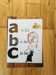 B for Bowie print - Pressed Gang