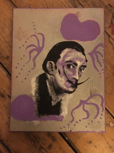 Pressed Gang Dali Painting in Purple - Pressed Gang