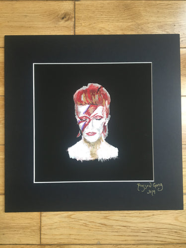 Pressed Gang Print of Bowie Painting - Pressed Gang