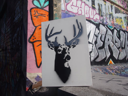 Pressed Gang Stag painting - Pressed Gang