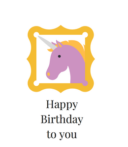 Pressed Gang Happy Birthday Unicorn card - Pressed Gang