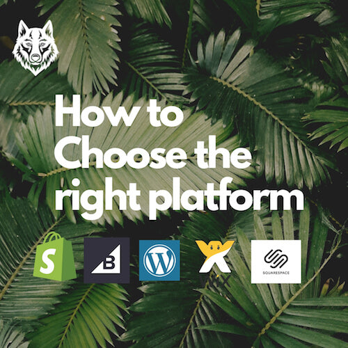 CHOOSE THE RIGHT PLATFORM