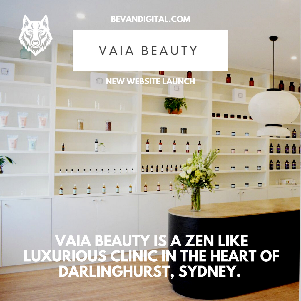 Vaia Beauty New Website Design Launch with Bevan Digital