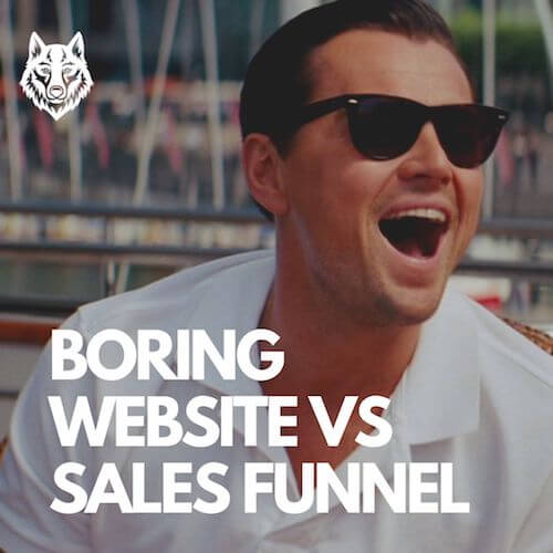 BORING WEBSITE VS SALES FUNNEL