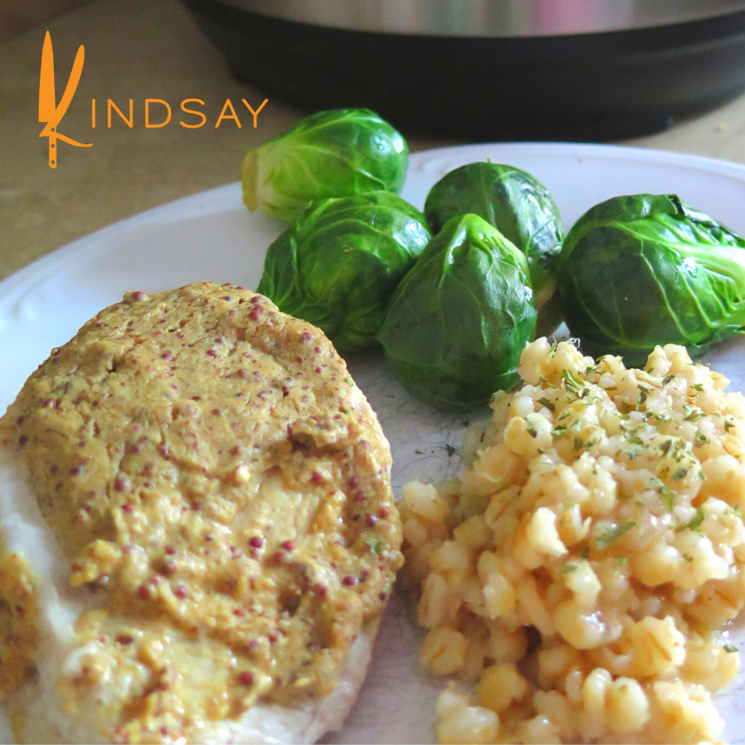 Mustard-Sauced Pork Loin Dinner