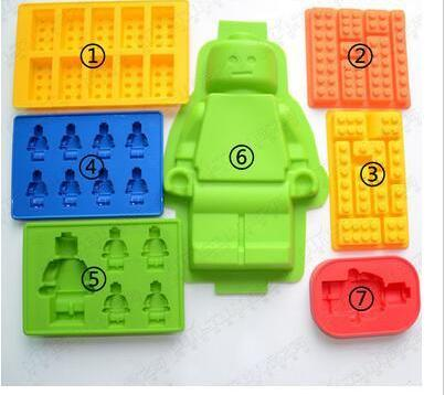 Lego Men and Blocks Chocolate/Candy Silicone Mold