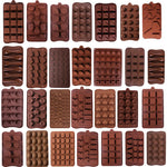 Multi-Shape Silicone Chocolate/Candy Mold for Baking, Dessert Decoration