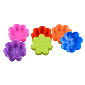 12-piece Reusable Silicone Cupcake, Soap, Cake, Muffin Liners