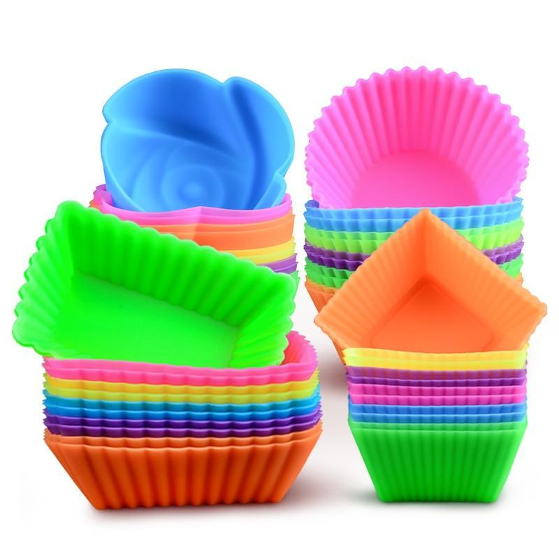 6-piece Reusable Silicone Cupcake, Soap, Cake, Muffin Liners
