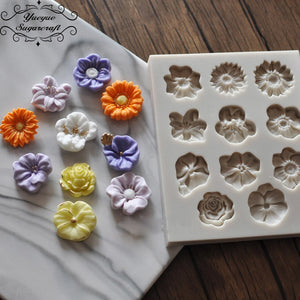 Flower Silicone Mold for Fondant and Gumpaste Cake Decor