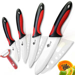 5-Piece Ceramic Kitchen Knives and Peeler Set