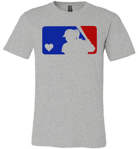 Love Softball Design- Design available in our soft tees and hoodies!