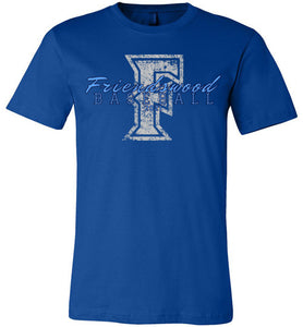 Friendswood Distressed Logo Tee