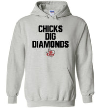 Load image into Gallery viewer, TCE Chicks Dig Diamonds Hoodie