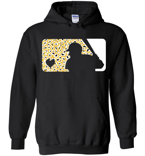 Love Baseball Leopard Edition White & Gold Hoodie