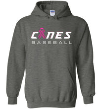 Load image into Gallery viewer, Canes Baseball Breast Cancer Awareness Hoodie