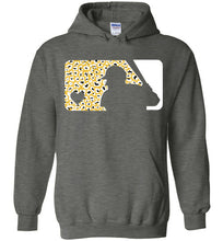 Load image into Gallery viewer, Love Baseball Leopard Edition White & Gold Hoodie