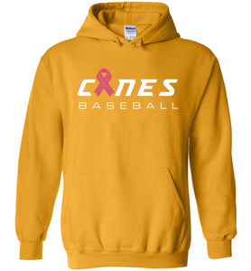 Canes Baseball Breast Cancer Awareness Hoodie