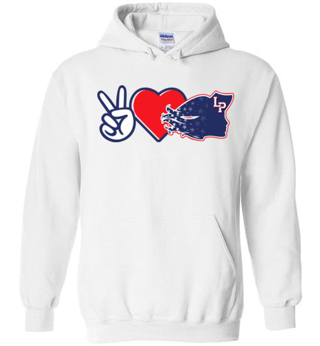 Peace Love Lady Patriots Hoodie