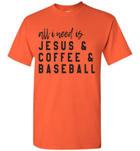 Load image into Gallery viewer, Jesus & Coffee & Baseball Tee