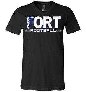 Fort Football V-Neck Tee