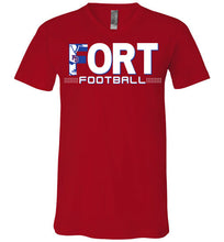 Load image into Gallery viewer, Fort Football V-Neck Tee