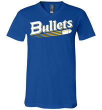 Load image into Gallery viewer, Bullets Baseball Logo V-Neck Tee