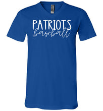 Load image into Gallery viewer, Patriots Thin Script  V-Neck Tee