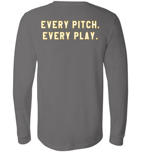 Bullets Every Pitch. Every Play. LS Tee
