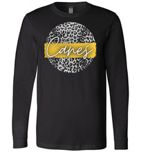 Load image into Gallery viewer, Canes Leopard Baseball LS Tee