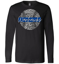 Load image into Gallery viewer, Warhawks Leopard Baseball LS Tee