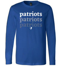 Load image into Gallery viewer, Patriots Ombre LS Tee