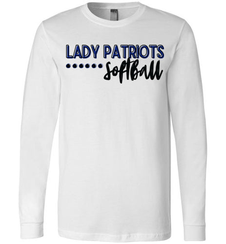 Lady Patriots Softball Script LS Tee