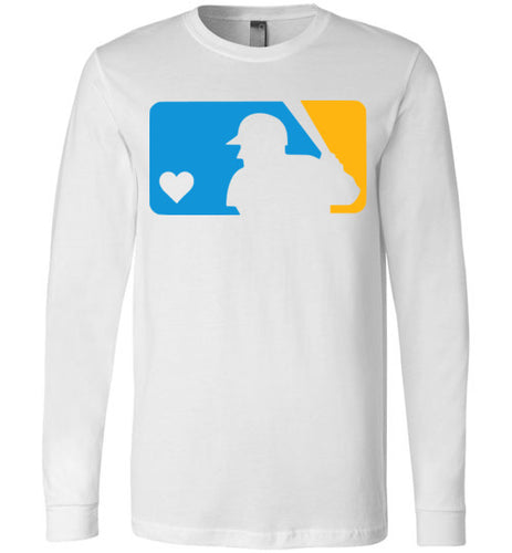 Custom Colors Love Baseball LS Tee