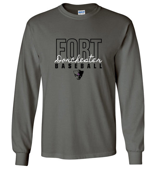 Fort Dorchester Script Long Sleeve Tee