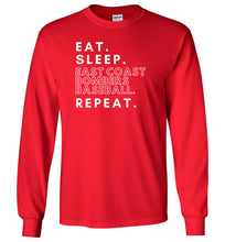 Load image into Gallery viewer, Eat. Sleep. Bombers. Repeat. LS Tee