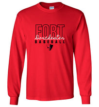 Load image into Gallery viewer, Fort Dorchester Script Long Sleeve Tee