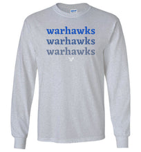 Load image into Gallery viewer, Warhawks Ombre LS Tee