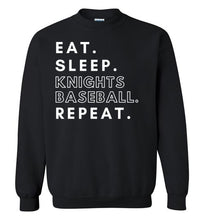 Load image into Gallery viewer, Eat. Sleep. Knights. Crewneck