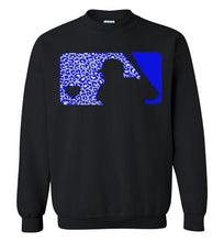 Load image into Gallery viewer, Love Baseball Leopard Warhawks Edition Crewneck