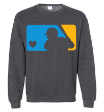 Load image into Gallery viewer, Custom Colors Love Baseball Crewneck