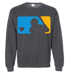 Custom Colors Love Baseball Crewneck