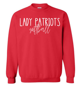 Lady Patriots Thin Script Crewneck