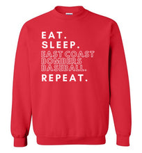 Load image into Gallery viewer, Eat. Sleep. Bombers. Repeat. Crewneck