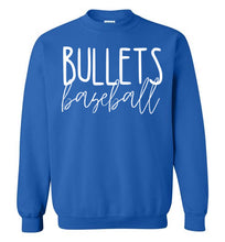 Load image into Gallery viewer, Bullets Baseball Thin Script Crewneck