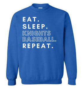 Eat. Sleep. Knights. Crewneck