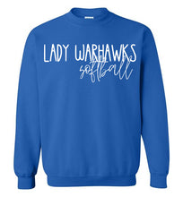 Load image into Gallery viewer, Lady Warhawks Thin Script Crewneck